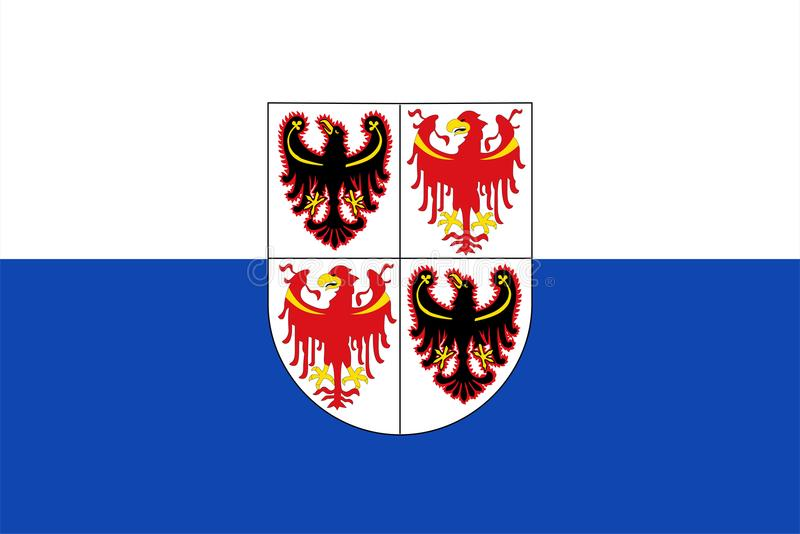 Flag of Sudtirol vector illustration