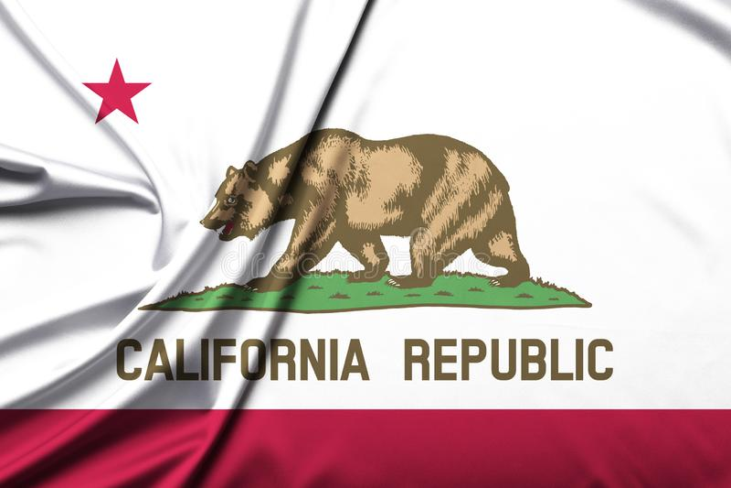 Flag of the Republic of California stock image