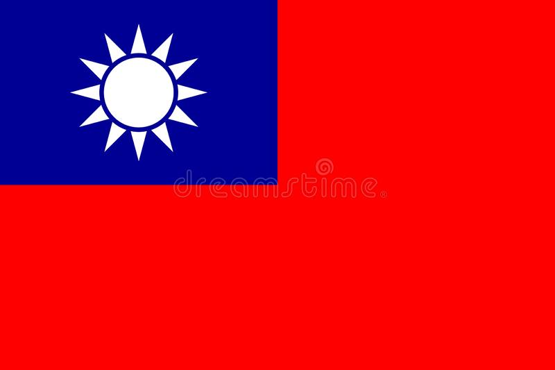 Flag Republic of China - Taiwan in official vector vector illustration
