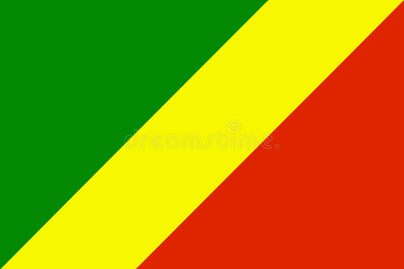 Flag of Republic of the Congo royalty free stock photo