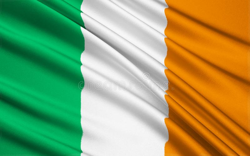 Flag of the Republic of Ireland. Flag of Ireland - frequently referred to as the Irish tricolor. The green represents the Gaelic tradition of Ireland, the orange royalty free illustration