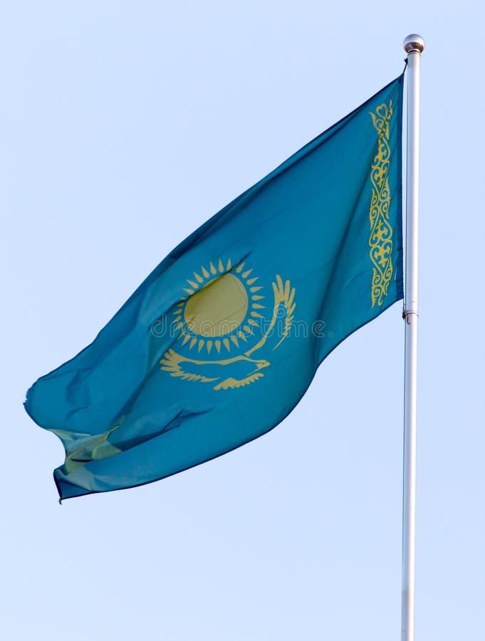 Flag of the Republic of Kazakhstan stock photos