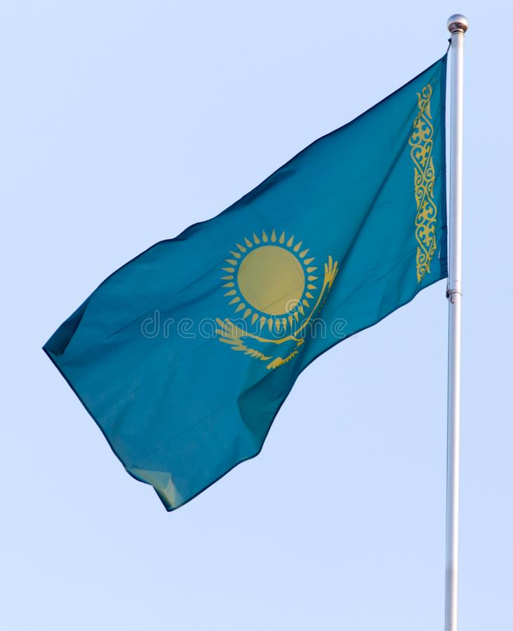 Flag of the Republic of Kazakhstan royalty free stock photos