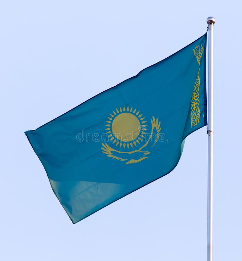 Flag of the Republic of Kazakhstan royalty free stock photography