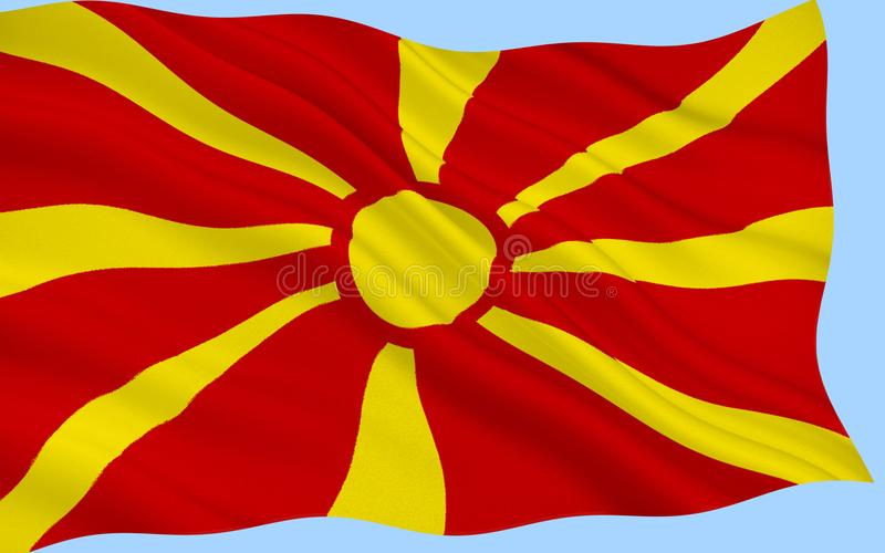 Flag of the Republic of Macedonia stock image