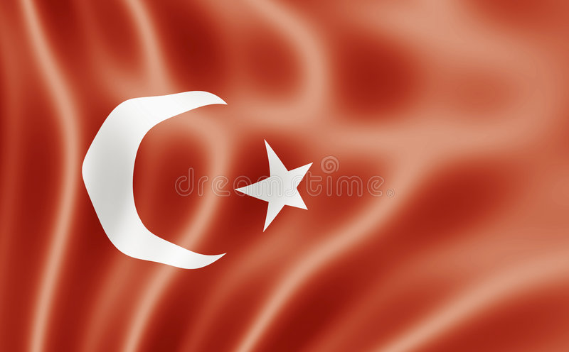 Flag Of The Republic of Turkey vector illustration