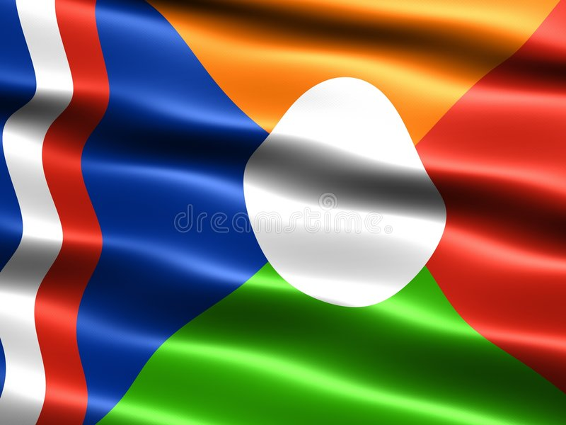 Download Flag Of Reunion, Unofficial Royalty Free Stock Images - Image: 4772729
