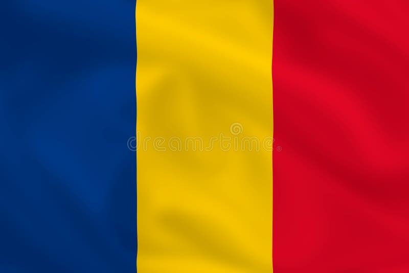 Flag of Romania stock illustration