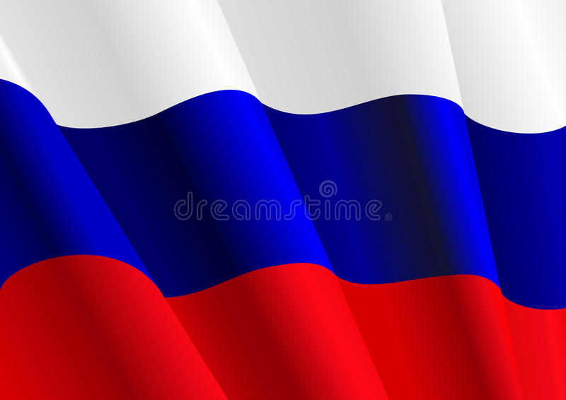 Flag of Russia stock illustration