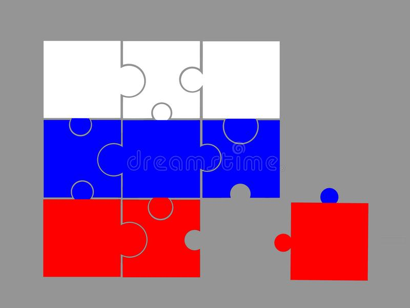 Download Flag of Russia stock illustration. Illustration of think - 4653692