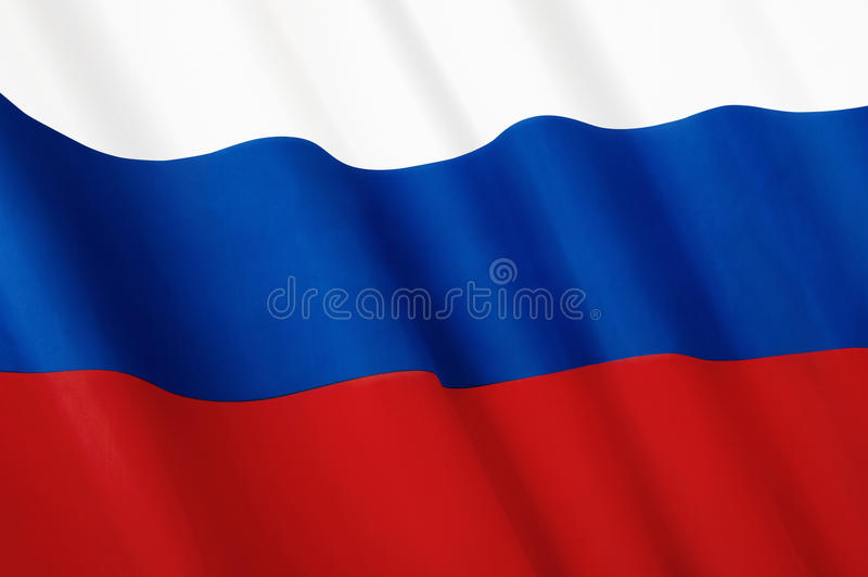 Flag of Russia royalty free stock photo