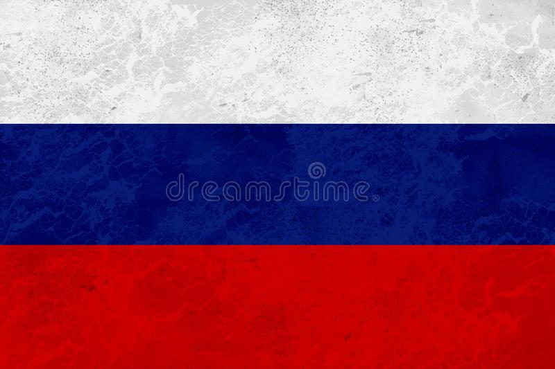Russia flag - marble texture royalty free stock image
