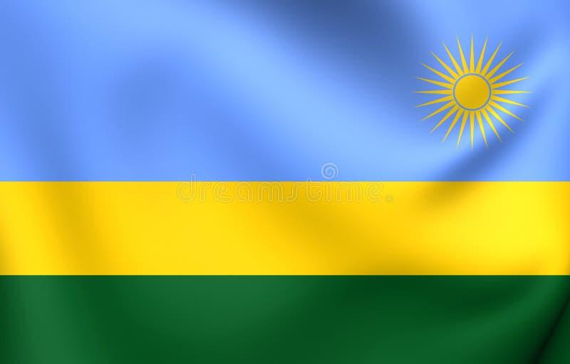Flag of Rwanda. Close Up stock illustration
