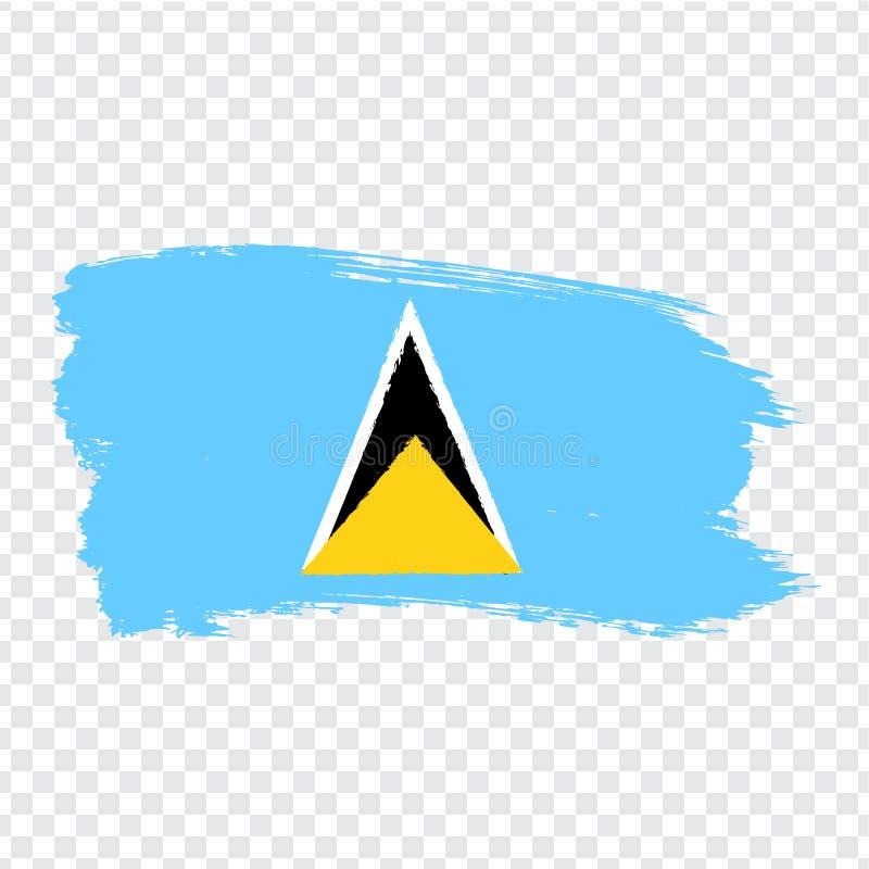 Flag Saint Lucia  from brush strokes. Flag Saint Lucia on transparent background for your web site design, logo, app, UI. Stock vector.  EPS10 vector illustration