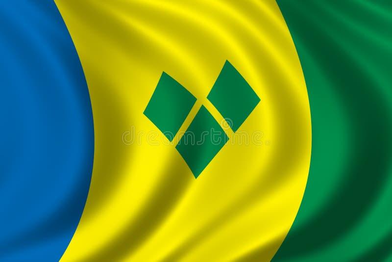 Flag of Saint Vincent vector illustration