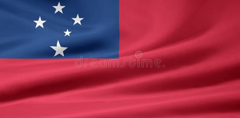 Flag of Samoa stock illustration