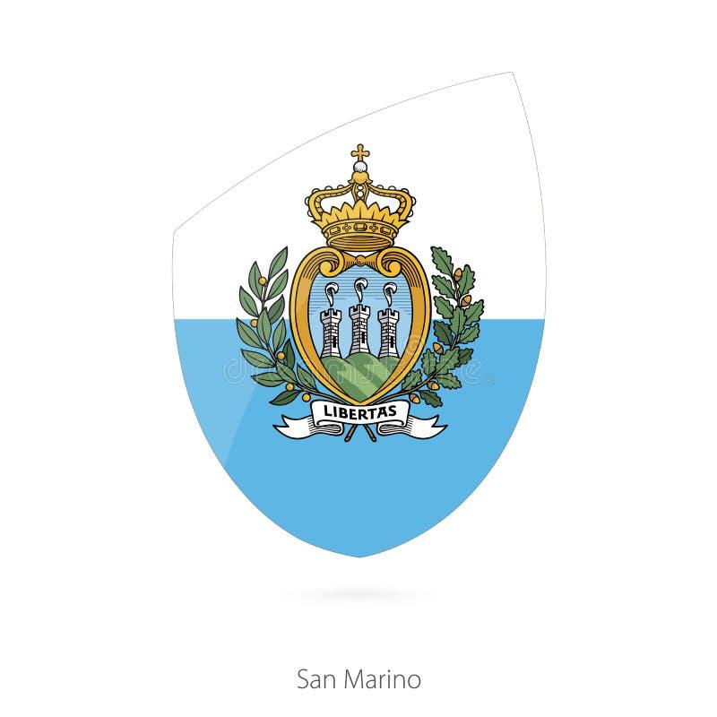 Flag of San Marino stock illustration