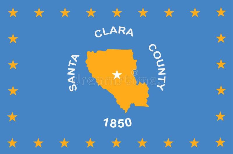 Flag of Santa Clara in California, United States. Flag of Santa Clara County in California in the United States. Vector illustration vector illustration