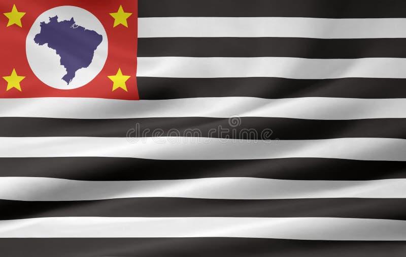 Flag of Sao Paulo royalty free illustration
