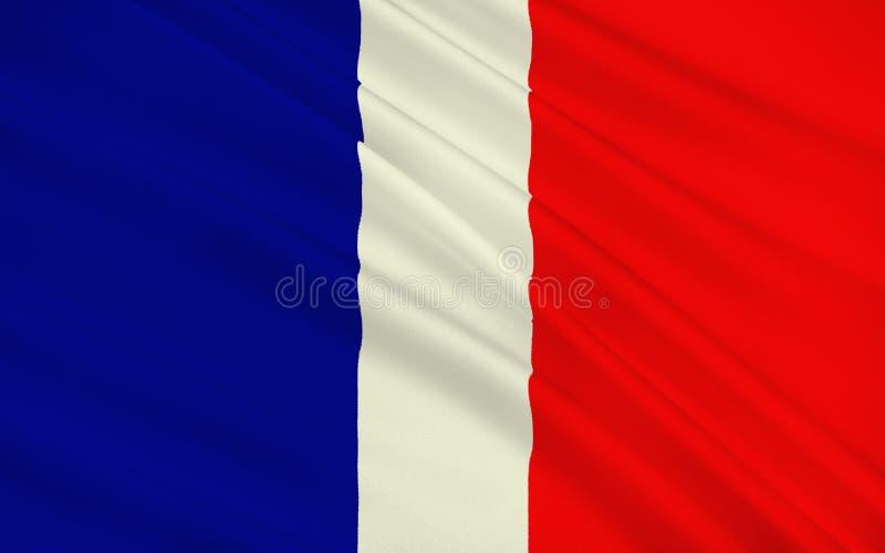 Flag of Schaan, Liechtenstein royalty free illustration