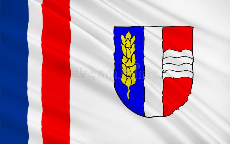 Flag of Schaan, Liechtenstein vector illustration