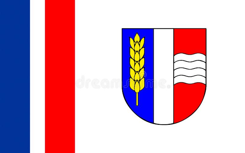 Flag of Schaan, Liechtenstein royalty free illustration