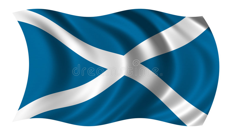 Flag of Scotland vector illustration