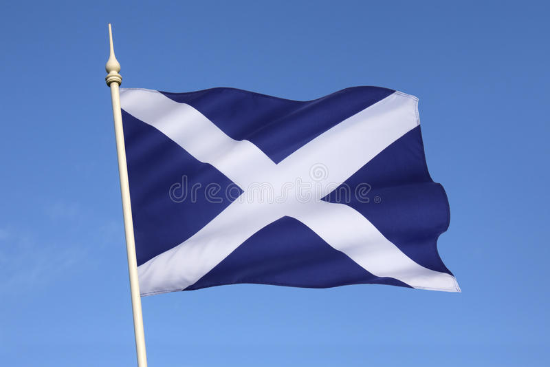 Flag of Scotland - Scottish Independence stock photo