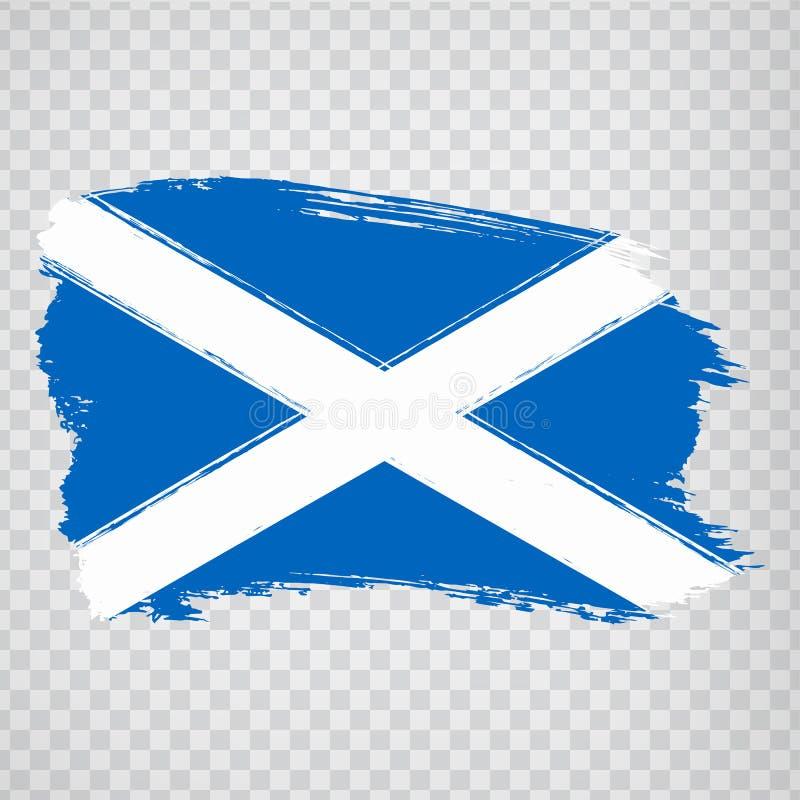 Flag Scotland from brush strokes. Flag Scotland on transparent background for your web site design, logo, app, UI.  UK. Stock vector.  EPS10 royalty free illustration