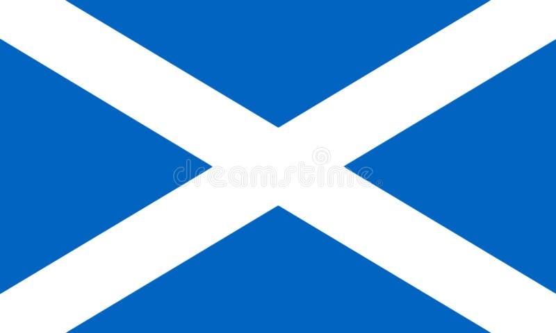 Flag Of Scotland 3D illustration royalty free illustration