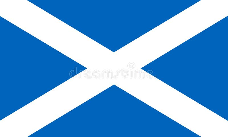 Flag of Scotland royalty free illustration