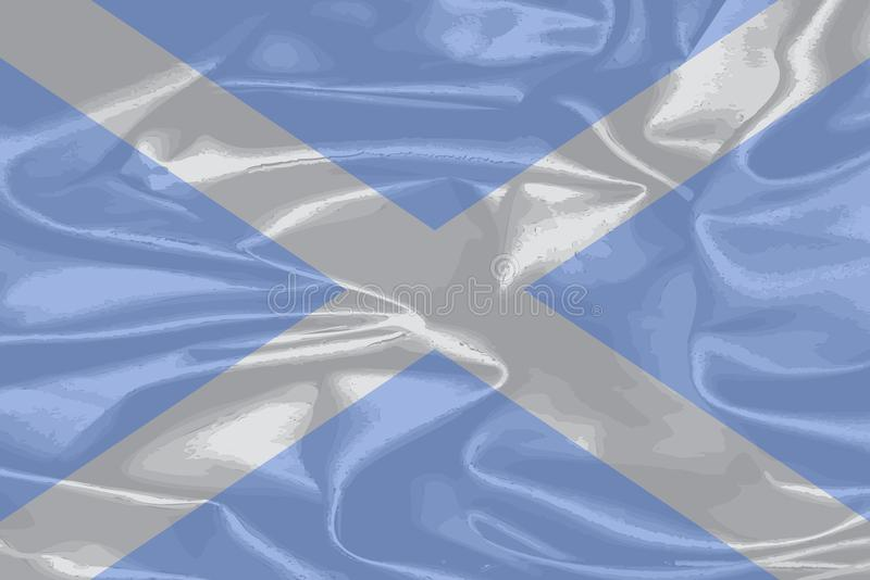 Scotland Silk Flag vector illustration