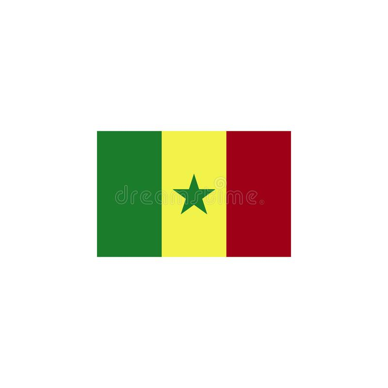 flag of Senegal colored icon. Elements of flags illustration icon. Signs and symbols can be used for web, logo, mobile app, UI, UX vector illustration