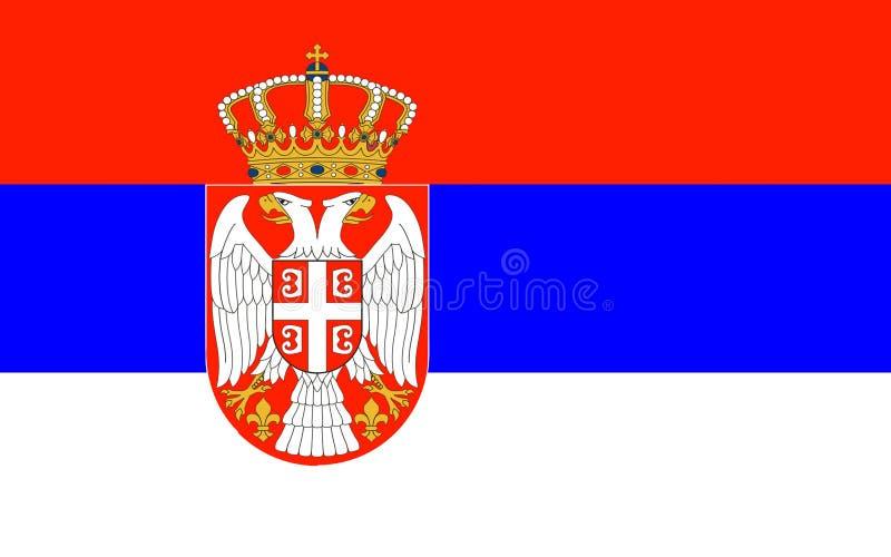 Flag of Serbia stock photos