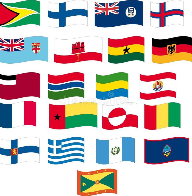 Download Flag Set - Part 5/12 - Letter F And G Stock Vector - Illustration of guam, france: 15282003