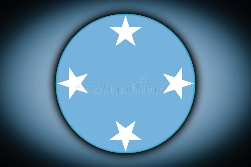 Flag in the shape of a circle. vector illustration