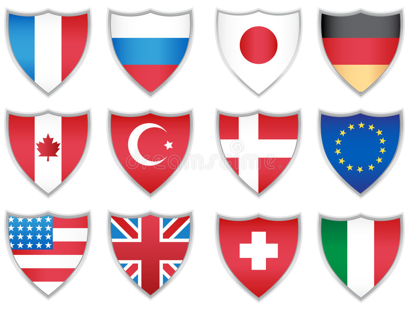 Flag Shields Stock Image