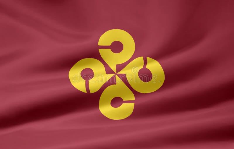 Flag of Shimane - Japan royalty free stock photos