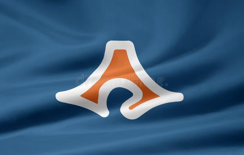 Flag of Shizuoka - Japan stock photography