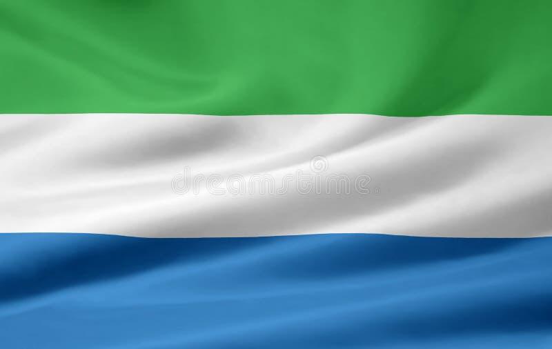 Flag of Sierra Leone stock image