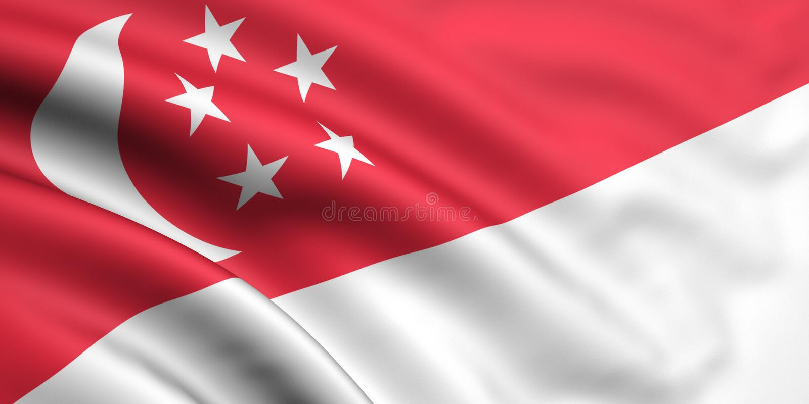 Flag Of Singapore royalty free illustration