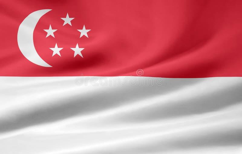 Flag of Singapore stock photography