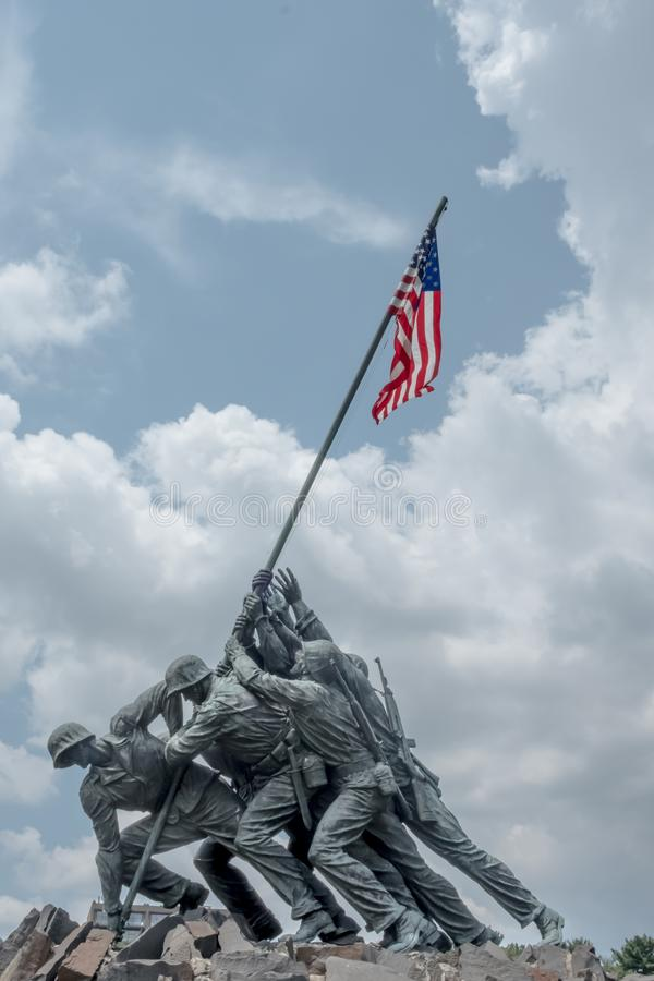 Flag, Sky, Monument, Flag Of The United States stock photography