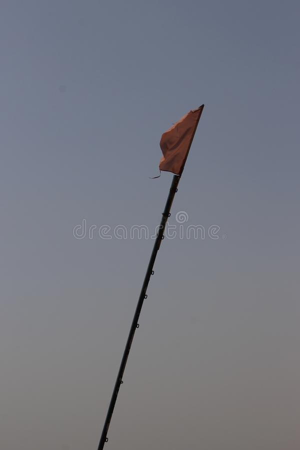 flag in the sky royalty free stock images