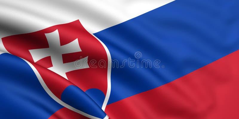 Flag Of Slovakia vector illustration