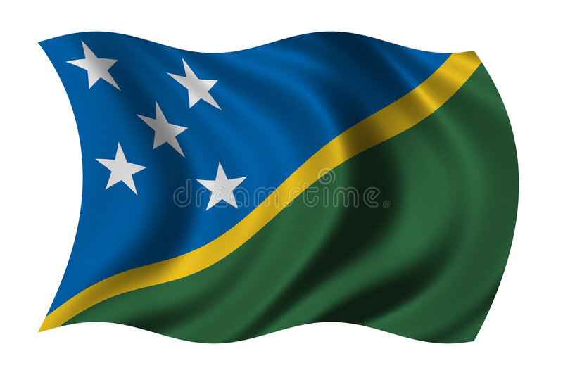 Flag of the Solomon Islands royalty free illustration