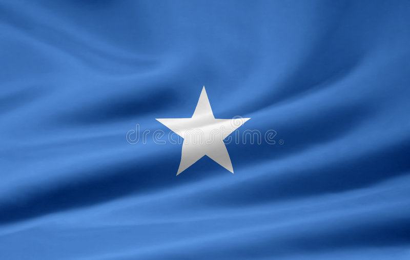 Flag of Somalia stock illustration