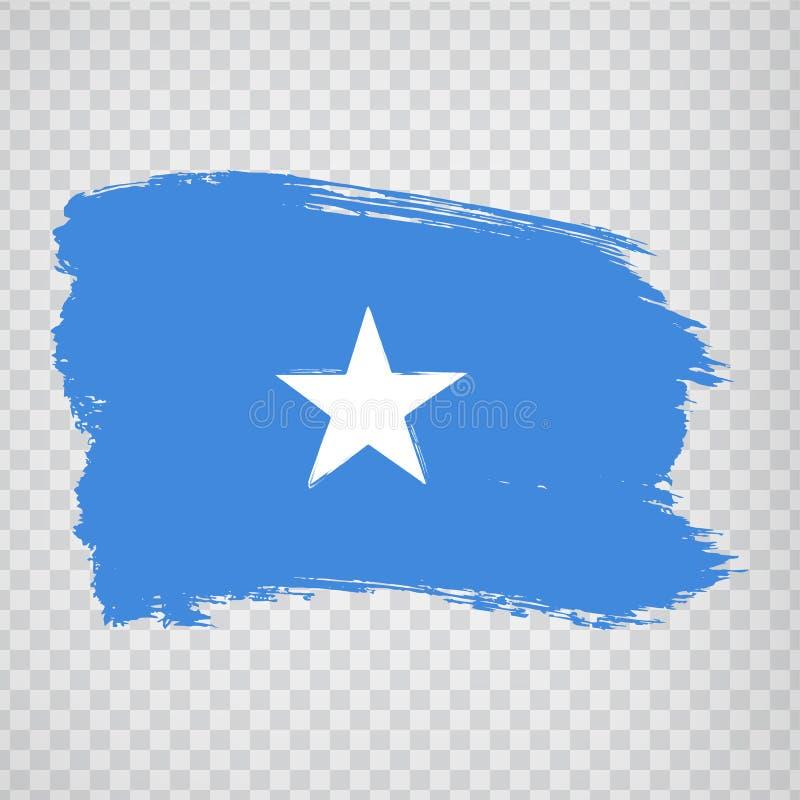 Flag Somalia from brush strokes. Flag Somalia on transparent background for your web site design, logo, app, UI. Africa. Stock vector.  EPS10 stock illustration