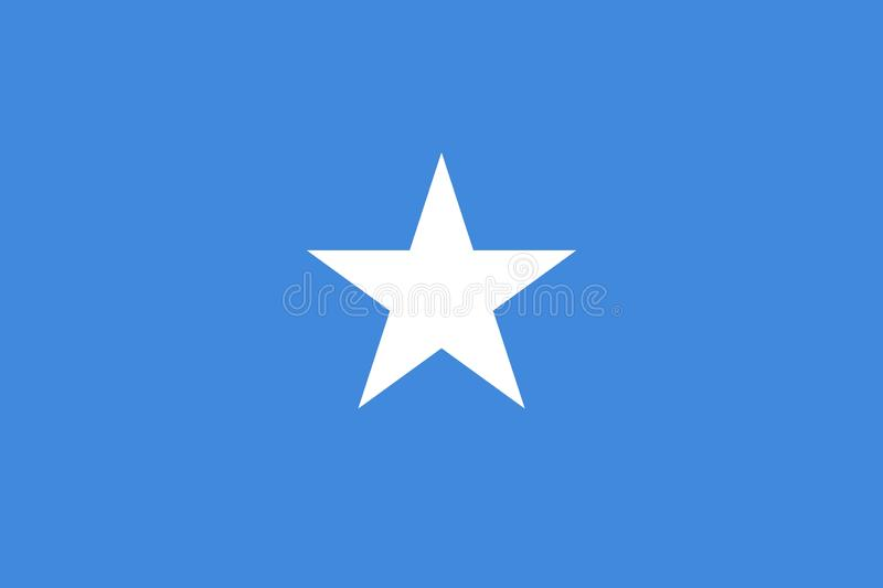 Flag Of Somalia. Ratios and colors are observed. royalty free stock photography