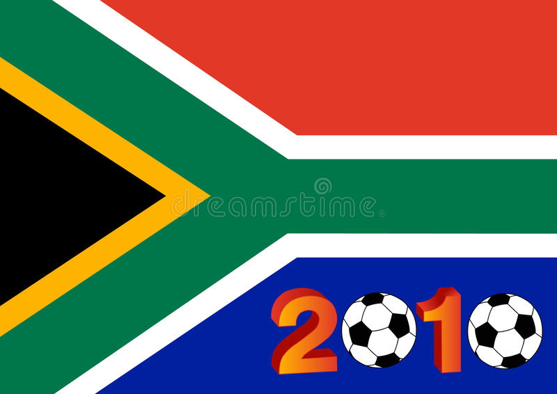 Download Flag Of South Africa With 2010 Stock Illustration - Image: 12066532